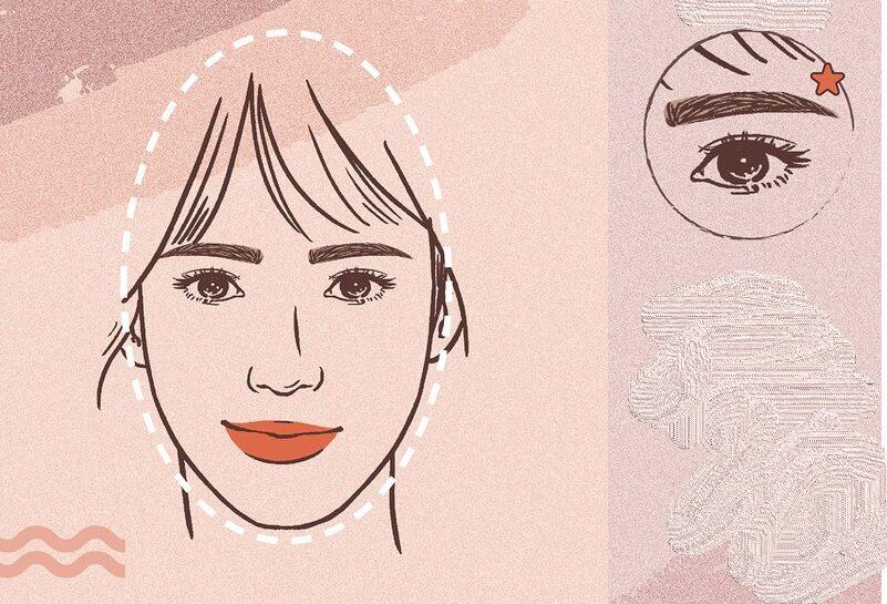 Cách chọn lông mày hợp với mặt nhọn