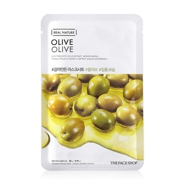 The Face Shop Real Nature Olive Face Mask Sheet