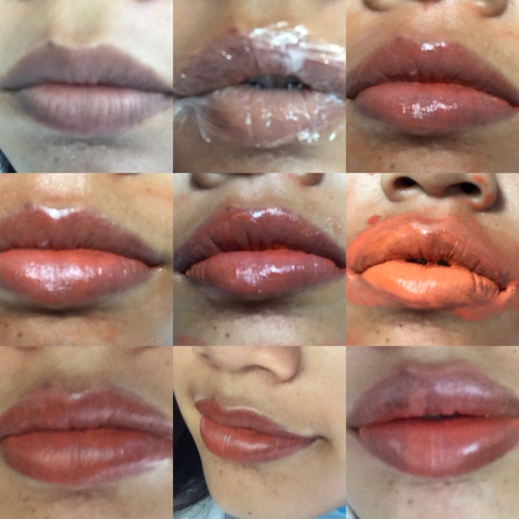 Xăm bao lâu thì lên màu môi?
