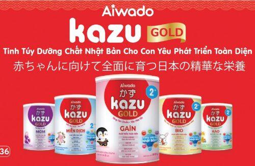 Sữa Kazu Gold - thương hiệu sữa ngoại được Mom tin dùng
