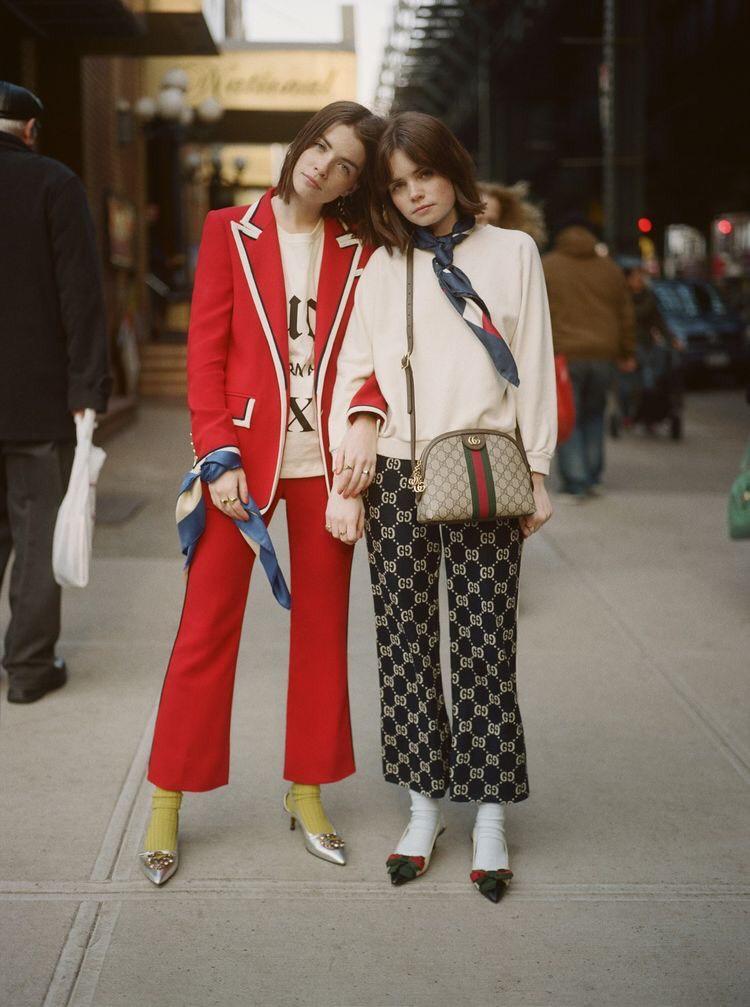 Túi Gucci Ophidia mix and match với trang phục của Gucci