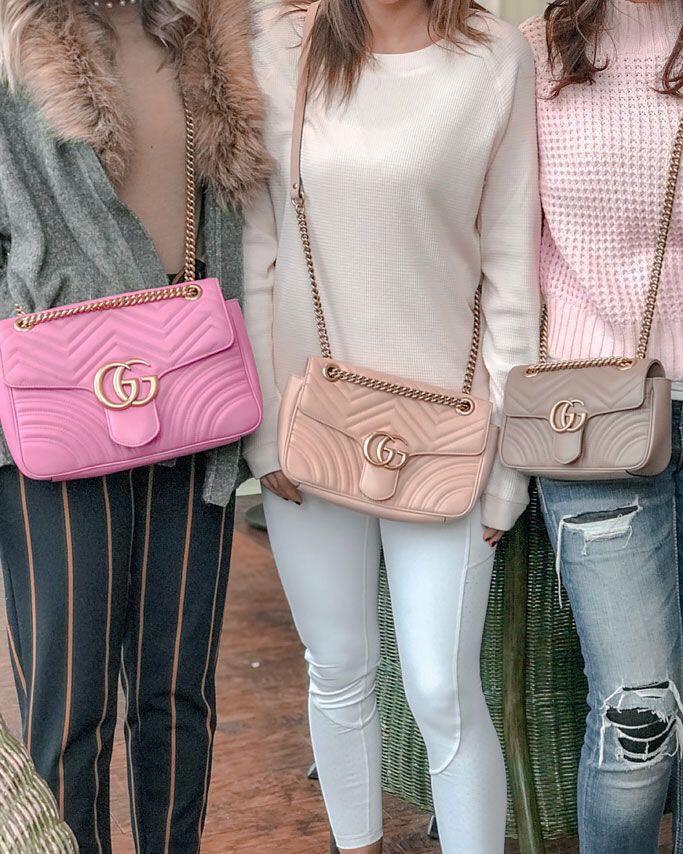 Túi Gucci Marmont tone pastel bánh bèo nữ tính