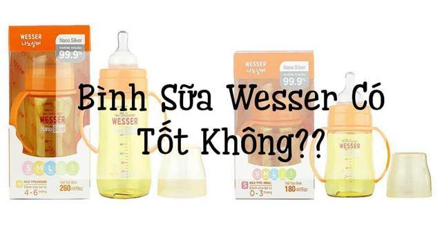 Bình sữa cho trẻ Wesser được Mom ưa chuộng
