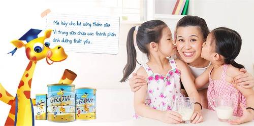 Abbott Grow với hương vị sữa rất thơm ngon, dễ uống