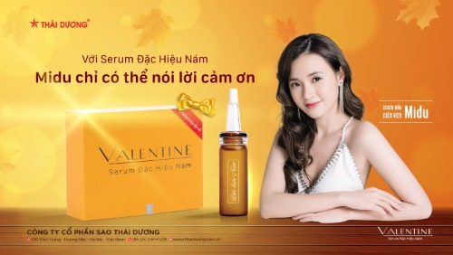 Serum trị nám valentine được bán phổ biến trên trang TMĐT