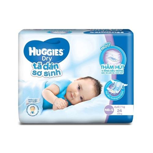Tã dán sơ sinh Huggies với độ thấm hút siêu nhanh