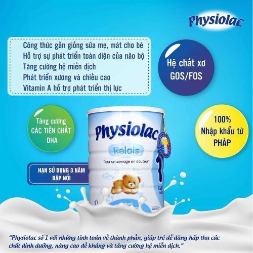 Sữa Physiolac giúp giảm nôn trớ ở trẻ nhỏ