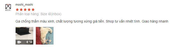 Phản hồi của Mom trên Shopee