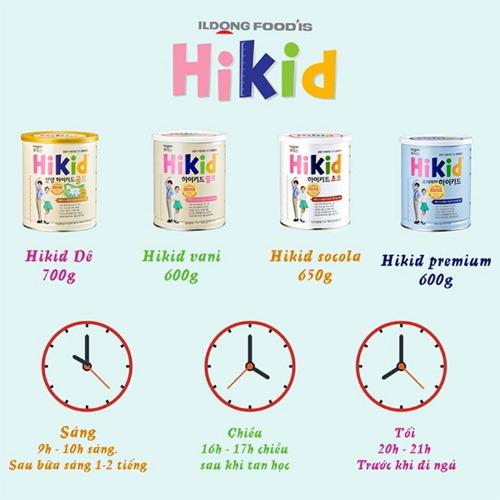 Hướng dẫn dùng sữa Hikid đúng cách
