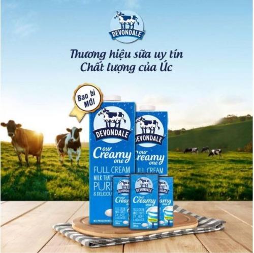 Sữa Devondale mẫu mới
