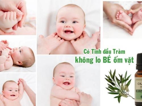 Bôi tinh dầu tràm cho trẻ sơ sinh giúp phòng và hỗ trợ các bệnh lý thường gặp ở trẻ nhỏ
