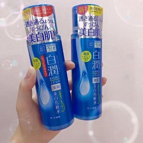 Toner Hada Labo màu xanh giúp làm sạch và dưỡng trắng da