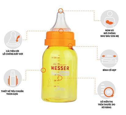 Thiết kế hỗ trợ bé tập bú bình tối ưu