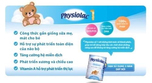 Công dụng của sữa Physiolac Pháp