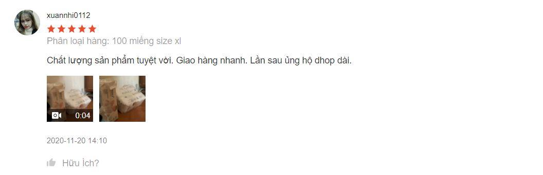 Mom bình luận sau khi mua bỉm Nanu