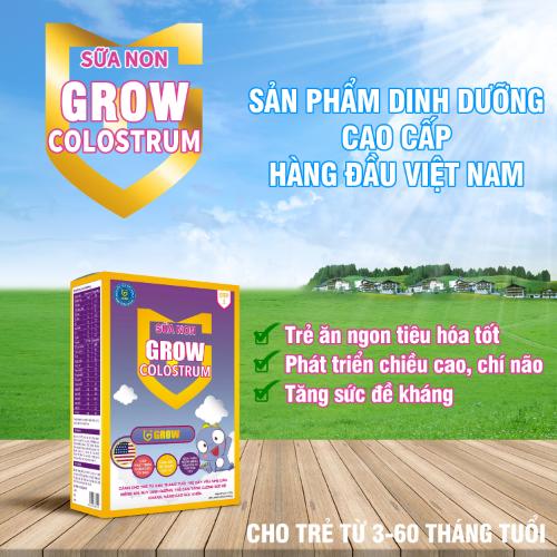 Sữa Grow Colostrum sử dụng cho bé từ 3 tháng đến 5 tuổi