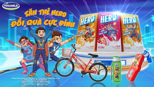 Sữa Hero Vinamilk vị cam