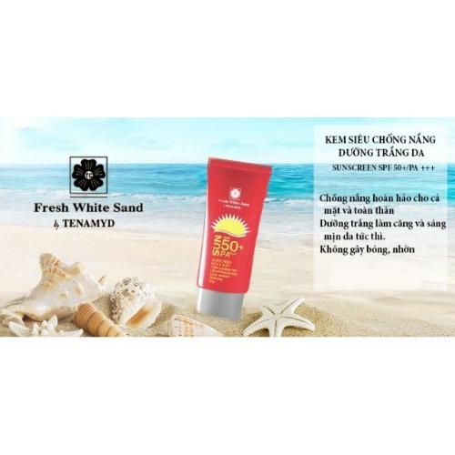 """Kem chống nắng dưỡng trắng da """"thần thánh"""" Tenamyd Fresh White Sand"""