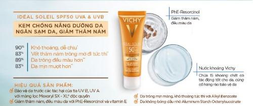 Ngoài chống nắng, Vichy còn giúp dưỡng ẩm, kiềm dầu