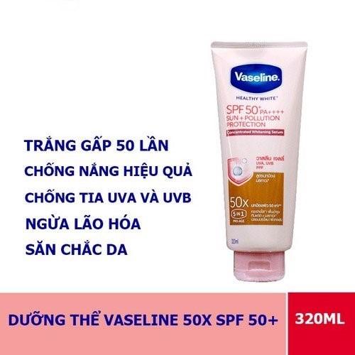 Điểm nổi bật của kem chống năng Vaseline 50X