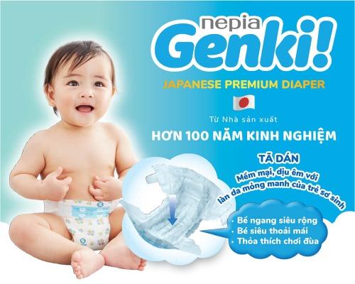 Bỉm Genki - siêu mềm mại