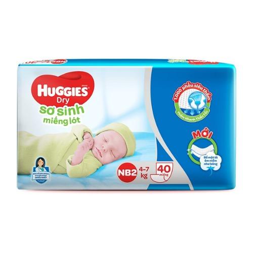 Bỉm Huggies Newborn 2 dành cho bé có cân nặng từ 4 - 7kg