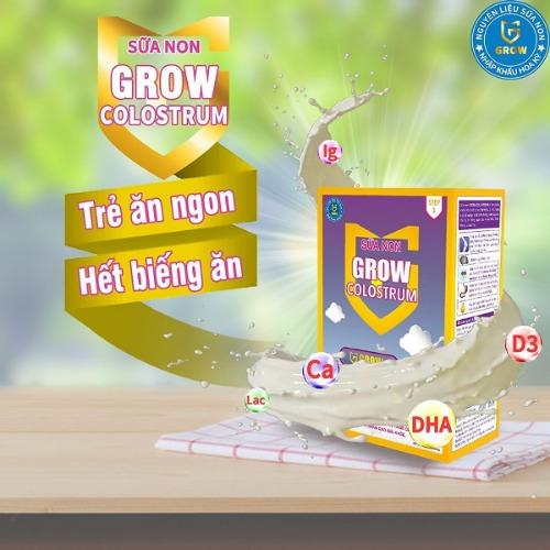 Sữa non Grow ColoStrum - giúp bé ngon miệng, hết biếng ăn