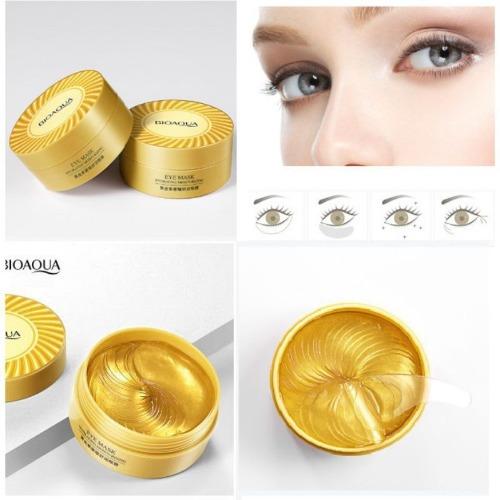 Mặt nạ mắt Bioaqua kén tằm Collagen màu vàng