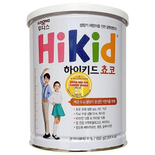 Sữa công thức Hikid hương vị Socola