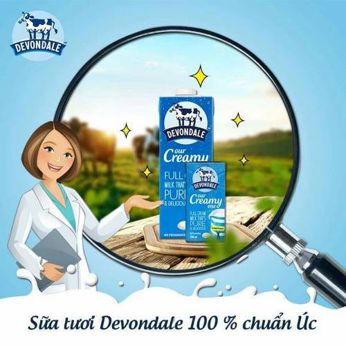 Sữa tươi Devondale số 1 của Úc có nhiều dung tích để lựa chọn