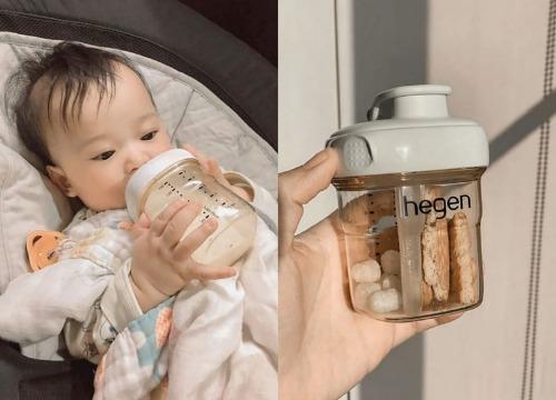 Núm vú được thiết kế nằm nghiêng giúp con yêu uống sữa dễ dàng hơn
