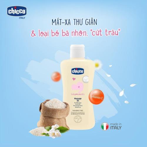 Dầu massage Chicco - thương hiệu nổi tiếng đến từ Ý