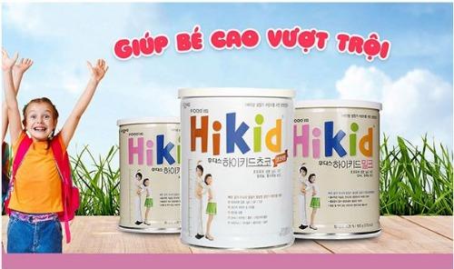 Sữa Hikid giúp tăng chiều cao tối ưu