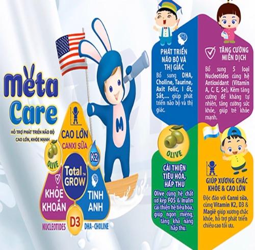 Meta Care- dòng sữa được chuyên gia dinh dưỡng khuyến cáo sử dụng