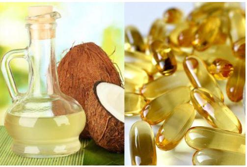 Có thể kết hợp dầu dừa và Vitamin E để tăng hiệu quả dưỡng mi
