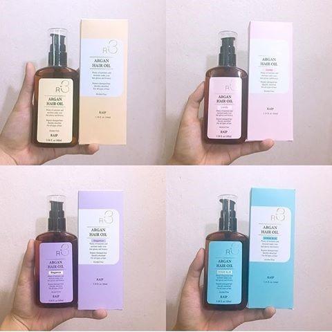 R3 Argan Hair Oil cso 4 mùi hương khác nhau
