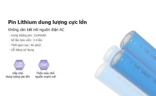 Pin Lithium dung lượng lớn, tích điện siêu khủng