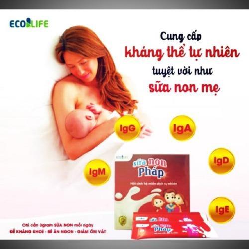 Sữa non Ecolife Pháp tăng cường miễn dịch cho trẻ
