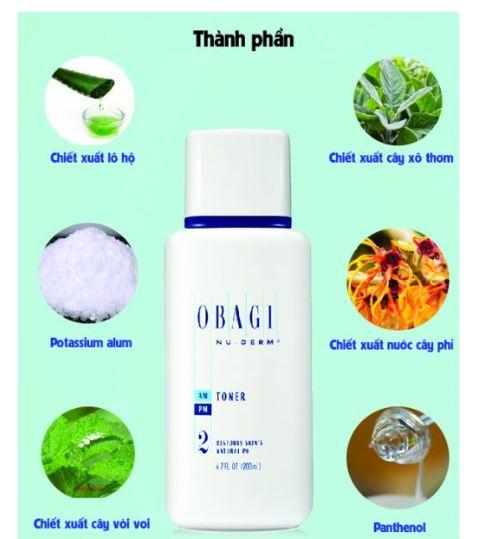 Obagi chứa thành phần lành tính từ thiên nhiên