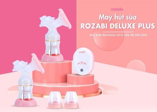 Rozabi Deluxe Plus điện đôi giúp hút sữa nhanh