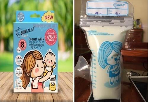 Túi đựng sữa Sunmum không chứa chất độc hại
