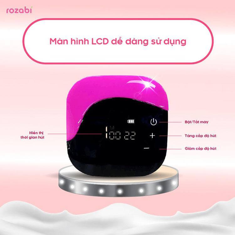 Máy có màn hình LCD dễ điều khiển